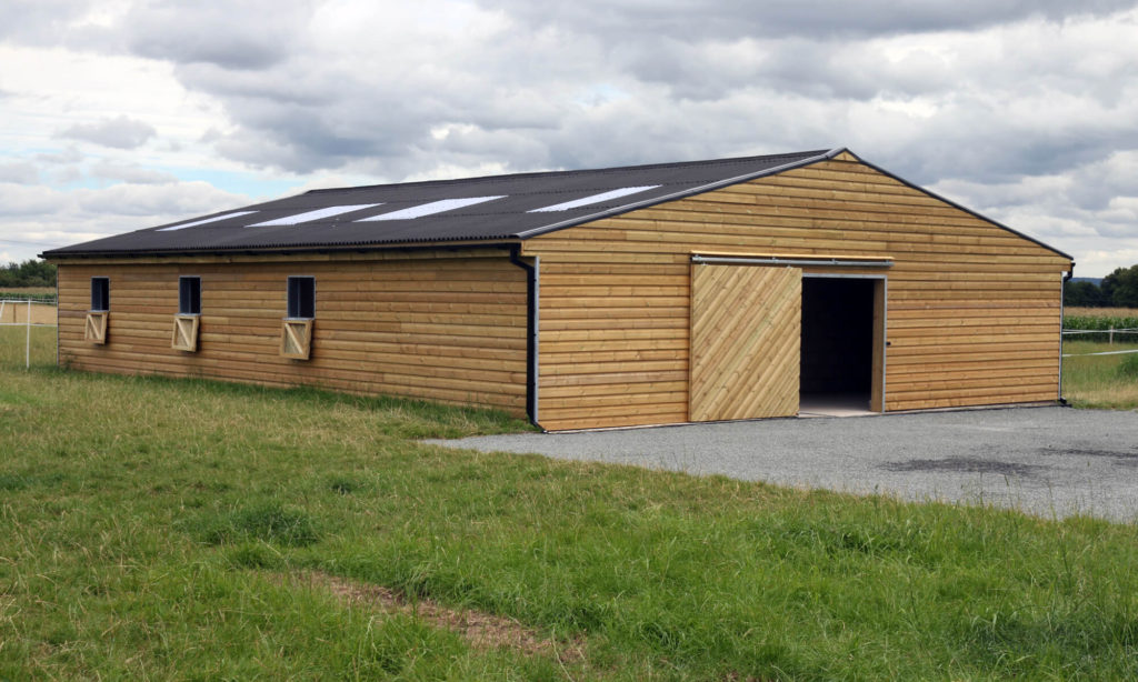 Timber frame horse stable equestrian barn building premium