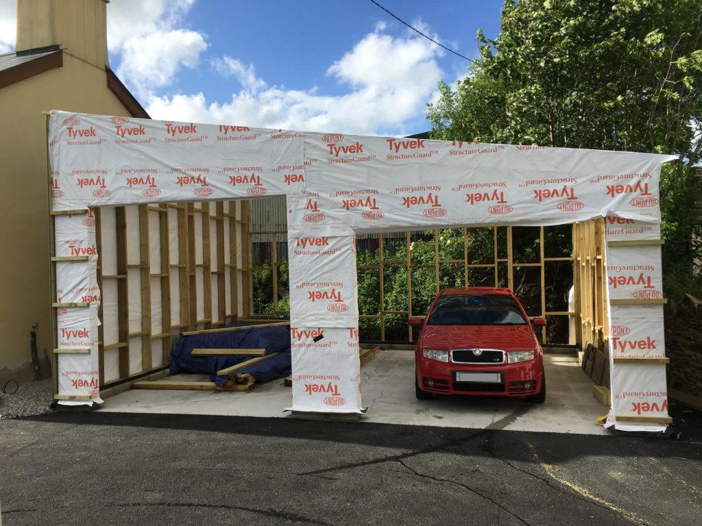 Timber Frame Garage Workshop